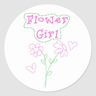 El rosa florece al florista pegatina redonda