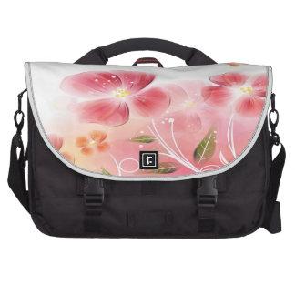 El rosa florece el bolso del ordenador portátil bolsas de portatil
