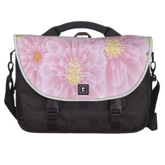 El rosa florece el bolso del ordenador portátil bolsas para ordenador