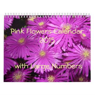 El rosa florece el calendario 2015 con grandes