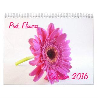 El rosa florece el calendario 2016