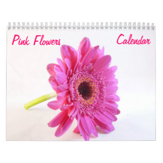 El rosa florece el calendario de pared