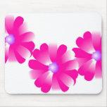 el rosa florece el mousepad alfombrilla de ratón