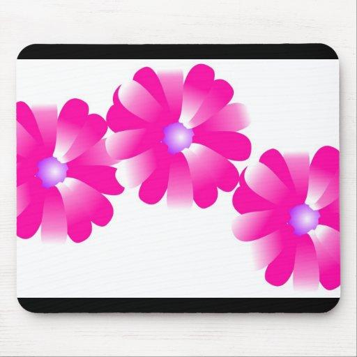 el rosa florece el mousepad alfombrilla de ratones