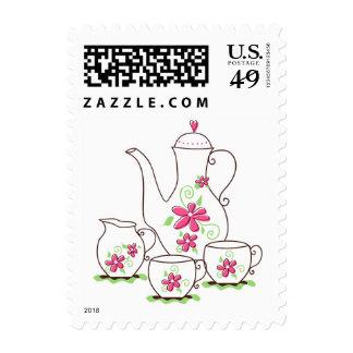 El rosa florece franqueo del personalizado del jue
