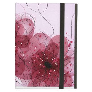 El rosa florece la caja del iPad del iCase de Powi