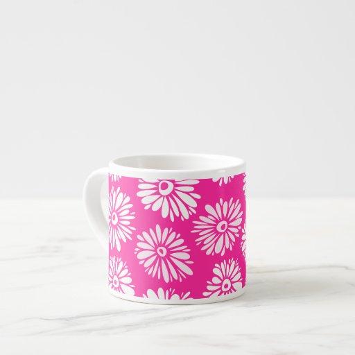 El rosa florece la taza del jumbo del Espresso/ Taza Espresso