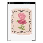 El rosa florece piel del iPad Calcomanía Para iPad 2