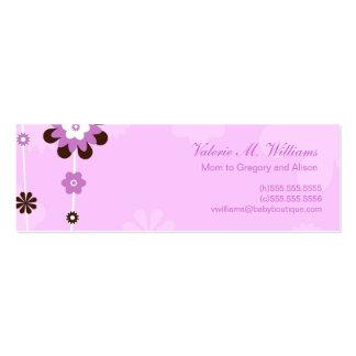 El rosa florece tarjetas de la mamá tarjetas de visita mini