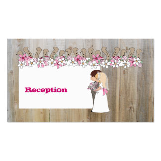 El rosa florece tarjetas occidentales de la tarjetas de visita