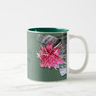 El rosa floreció Bromeliad Taza De Dos Tonos