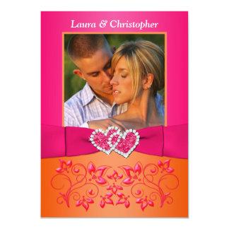 El rosa, FOTO unida floral anaranjada de los Comunicados Personalizados