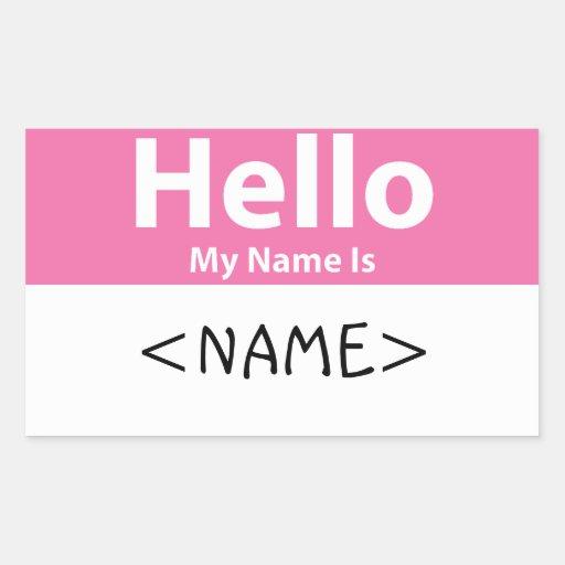 El rosa hola mi nombre es, <NAME> Rectangular Altavoz