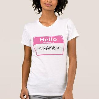 El rosa hola mi nombre es, <NAME> Polera