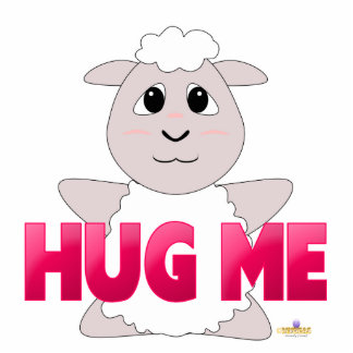 El rosa Huggable de las ovejas blancas me abraza Esculturas Fotográficas