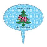El rosa I quiere una vaca para el navidad Decoraciones De Tartas