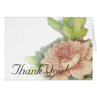 El rosa inglés le agradece Inmóvil-Personalizar Felicitación