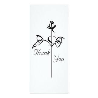 """El rosa largo del tronco le agradece invitación 4"""" x 9.25"""""""