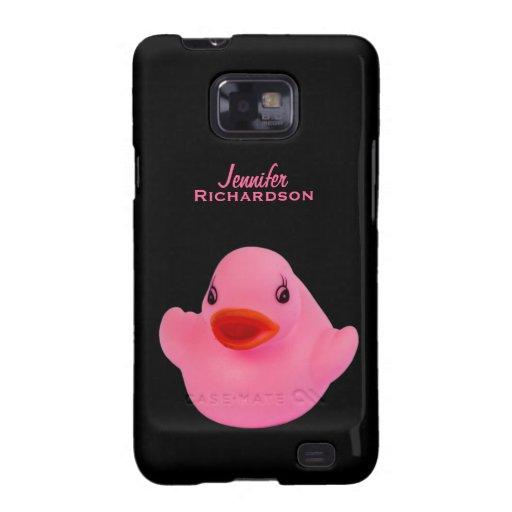 El rosa lindo del pato de goma, chicas de encargo  galaxy s2 funda
