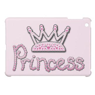 El rosa lindo impreso gotea a princesa Crown iPad Mini Coberturas