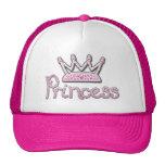 El rosa lindo impreso gotea a princesa Crown Gorra