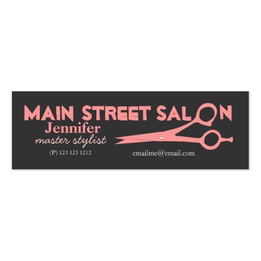 El rosa moderno Scissors salones de belleza del Tarjetas De Visita Mini