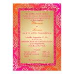 El rosa, naranja, FALSO boda del brillo del oro in Invitaciones Personales