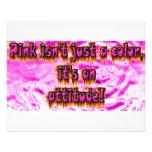 el rosa no es un color su una actitud flyer personalizado