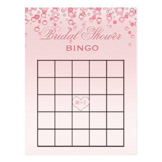 El rosa nupcial del bingo el | de la ducha se tarjetas postales