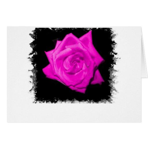 El rosa oscuro colorized color de rosa en una part tarjeton