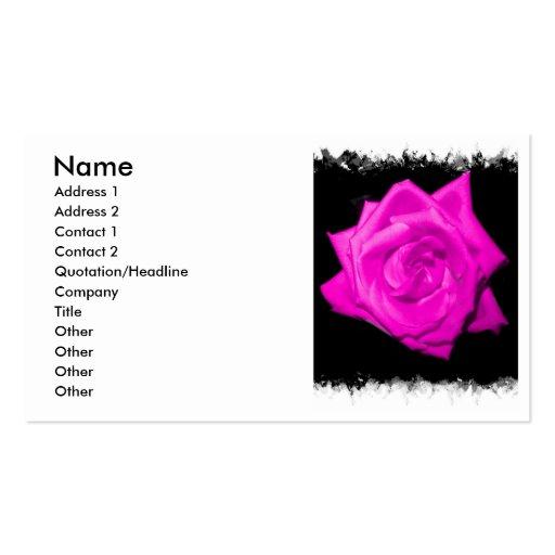 El rosa oscuro colorized color de rosa en una tarjetas de visita