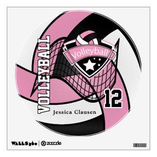 El rosa personaliza voleibol vinilo