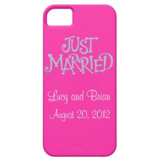 El rosa personalizado acaba de casar la caja del iPhone 5 carcasas