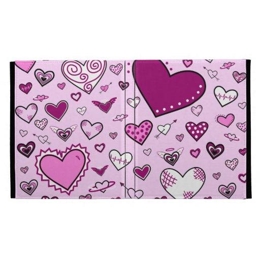 El rosa precioso y Purple Heart Doodles (la parte