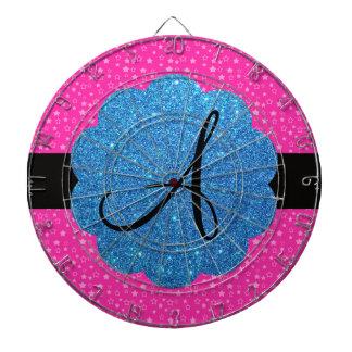 El rosa protagoniza el monograma tabla dardos