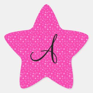 El rosa protagoniza los regalos del monograma pegatina en forma de estrella
