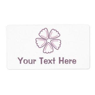 El rosa púrpura de la flor puntea 1 etiquetas de envío