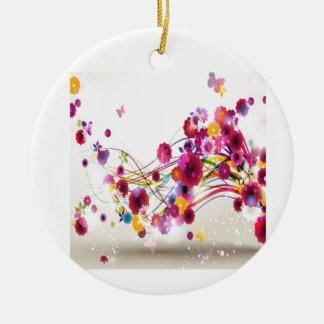 El rosa púrpura florece remolinos de la mariposa adorno