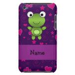 El rosa púrpura personalizado de la rana conocida  barely there iPod protector