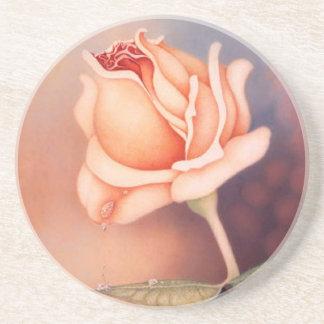 El rosa rasga el práctico de costa posavasos personalizados
