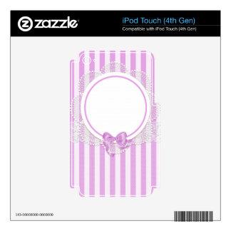 El rosa raya nupcial delicado o la fiesta de iPod touch 4G skin