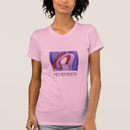 El rosa recuerda T Camisetas