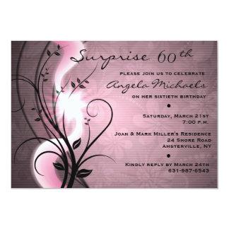 El rosa remolina invitación de la fiesta de invitación 12,7 x 17,8 cm