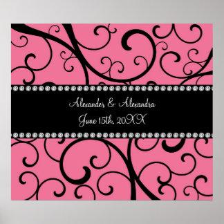 el rosa remolina los favores del boda póster