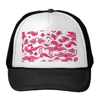 El rosa remolina modelo gorras