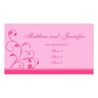 El rosa remolina y encrespa tarjetas del registro  tarjetas de visita