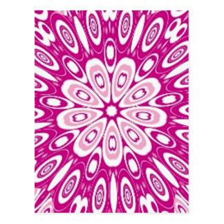 El rosa retro del chica lindo de la mariquita tarjetas postales