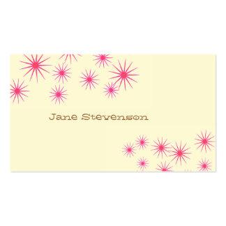 El rosa retro protagoniza lindo amarillo claro cap tarjetas de visita