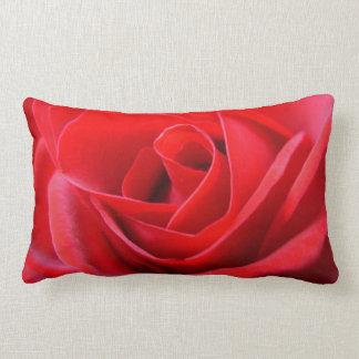 El rosa rojo de las almohadas color de rosa