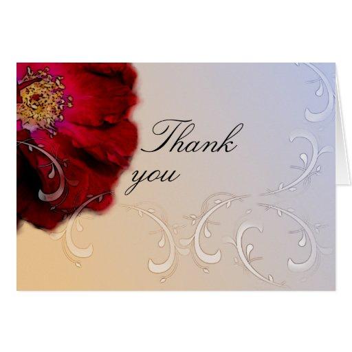 El rosa rojo le agradece tarjeta de felicitación